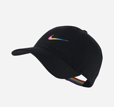 8182d1fb21 Nike BeTrue LGBT Gay Pride Parade Month Rainbow Black MultiColor Hat Cap Be  True