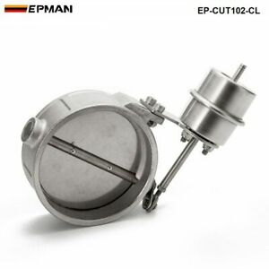 """NEW Vacuum Activated Exhaust Cutout / Dump 4"""" 102MM Close Style Pressure: 1 BAR"""