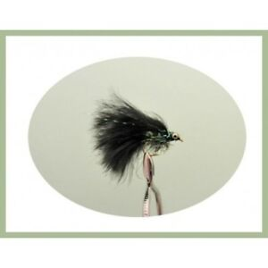 6 Cats Whisker Trout Fly Fishing Flies Black//green Fritz