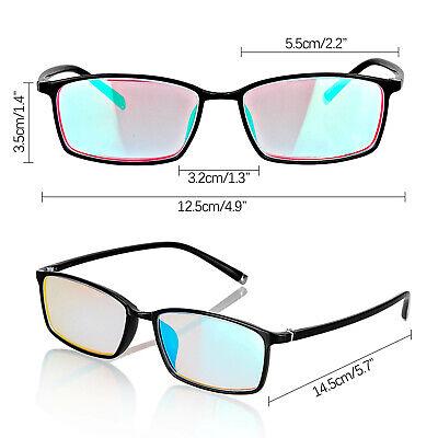 Red Green Color Blind Glasses Frame Purple Lenses Both Outdoor Indoor Correct Vision