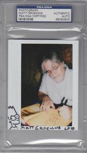 MATT-GROENING-Signed-Autographed-034-BART-SIMPSON-034-Sketch-Photo-PSA-DNA-SLABBED