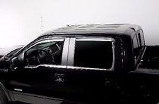 Element Chrome Trim Window Visors Fits 2009-2014 Ford F150 Super Cab (Set of 4)