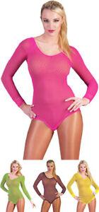 Neon Filet Body-sélecteur De Couleurs-sexy Costume Fluo Rave 80er 90er Aérobic Carnaval-afficher Le Titre D'origine