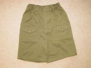 OFFICIAL Boy Scouts of America Uniform KHAKI GREEN SHORTS sz 16 ec