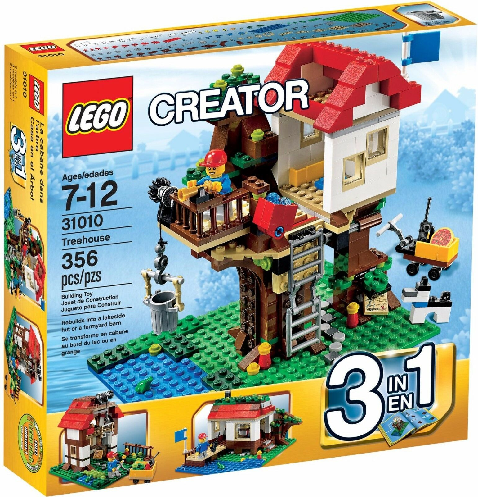 LEGO Creator Treehouse 3in1()(Retired 2013)(Rare)(NEW)