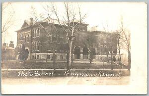 KINGMAN-KS-HIGH-SCHOOL-REAL-PHOTO-POSTCARD-RPPC-1908-ANTIQUE