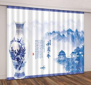 3D Starry Sky Wolf Galaxy Lake Blockout Photo Print Fabric Window Curtain Drapes