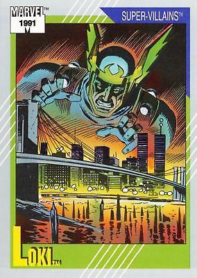 Loki # 89-1991 Marvel Universe Series 2 Impel Base Trading Card Dr.