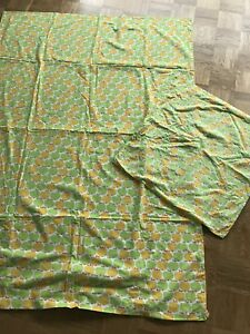Graziela äpfel Kinder Bettwäsche Stoff 70er Vintage Apples Fabric