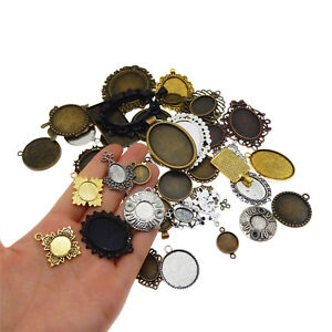 20pcs-Mixed-Tone-Alloy-Setting-Tray-Base-Crafts-Findings-Pendants-Charms-38391