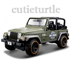 Maisto Harley Davidson Jeep Wrangler 1:27 Diecast Model Car 34190 Green