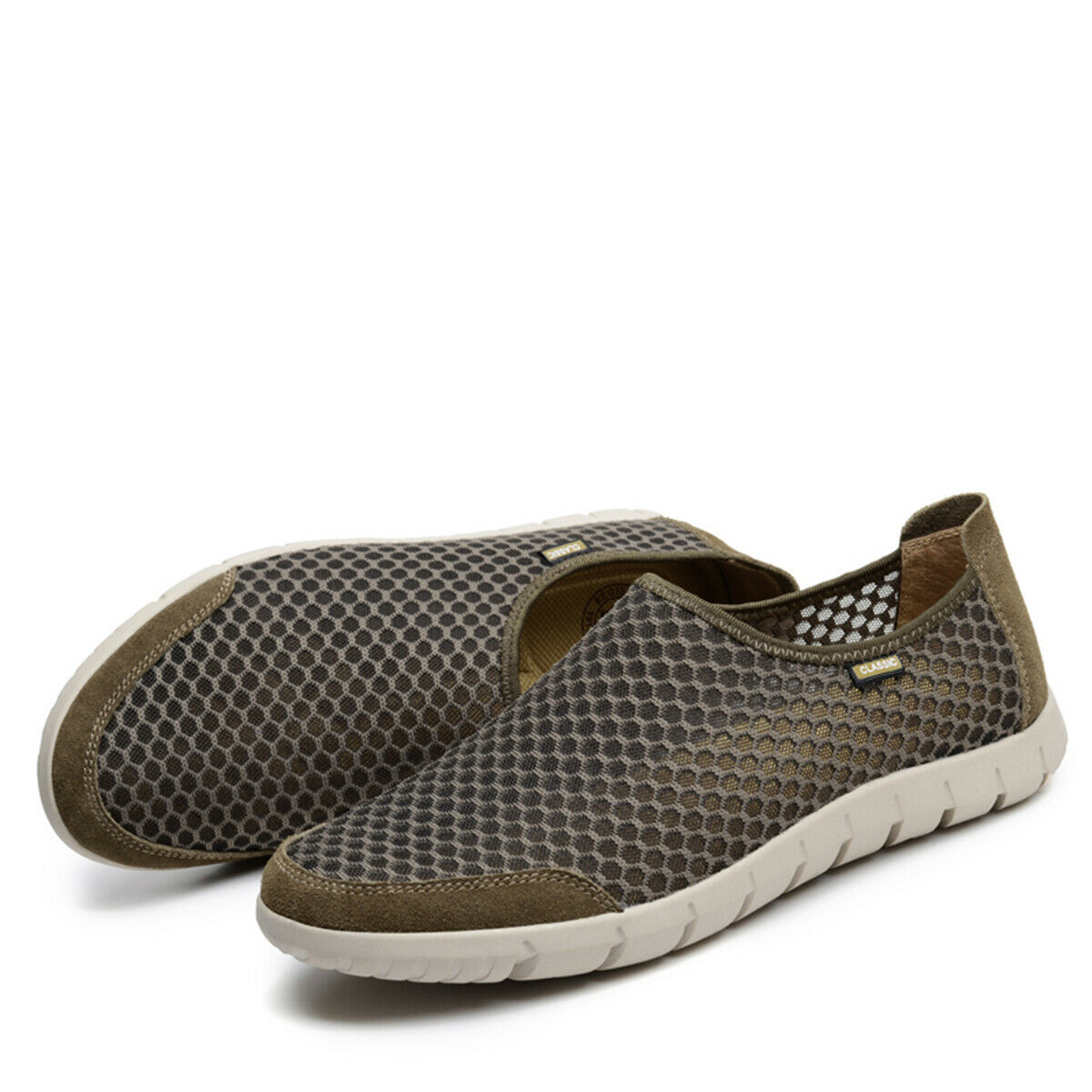 Fashion Outdoor Mens Walking Hole shoes Mesh Loafers Slip On Low Top Sports New
