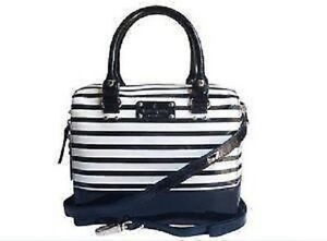 Image Is Loading Authentic Kate Spade Navy Blue Amp White Striped