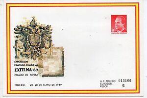Espana-Sobre-Entero-Postal-Exfilna-Toledo-ano-1989-CZ-744