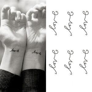 Love-Temporary-Tattoos-Stickers-Love-Letters-Patterns-Waterproof-Tattoo-Bod-RK