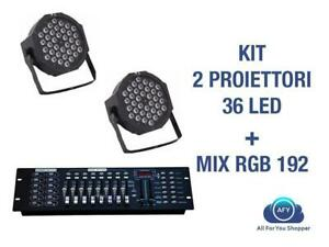 2-PAR-LED-FARO-RGB-36-LED-STROBO-WASH-PROGRAMMABILE-DMX-MIXER-RGB-192