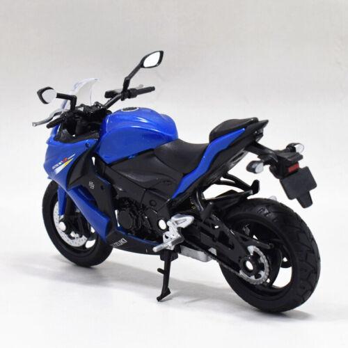 1:18 Welly SUZUKI GSX S1000F Motorcycle Bike Model Toy Blue