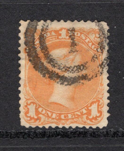 Canada 1868 1¢ Queen Victoria - Used - SC# 23  Cats $290.00
