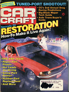 Car Craft Magazine May 1989 Secrets Of Restoration VGEX 032816jhe