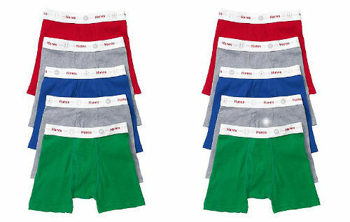 2T//3T /&4T Assorted Colors 10 Pack Hanes Toddler Boys/' Boxer Briefs Underwear