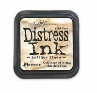 TIM HOLTZ Ranger DISTRESS Ink Pad ANTIQUE LINEN Water Based Dye TIM19497