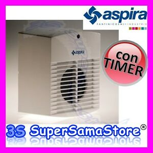 3s Aspiratore Aria Odori Bagno Con Timer Ac 100t Aspira 90 M3 Hr