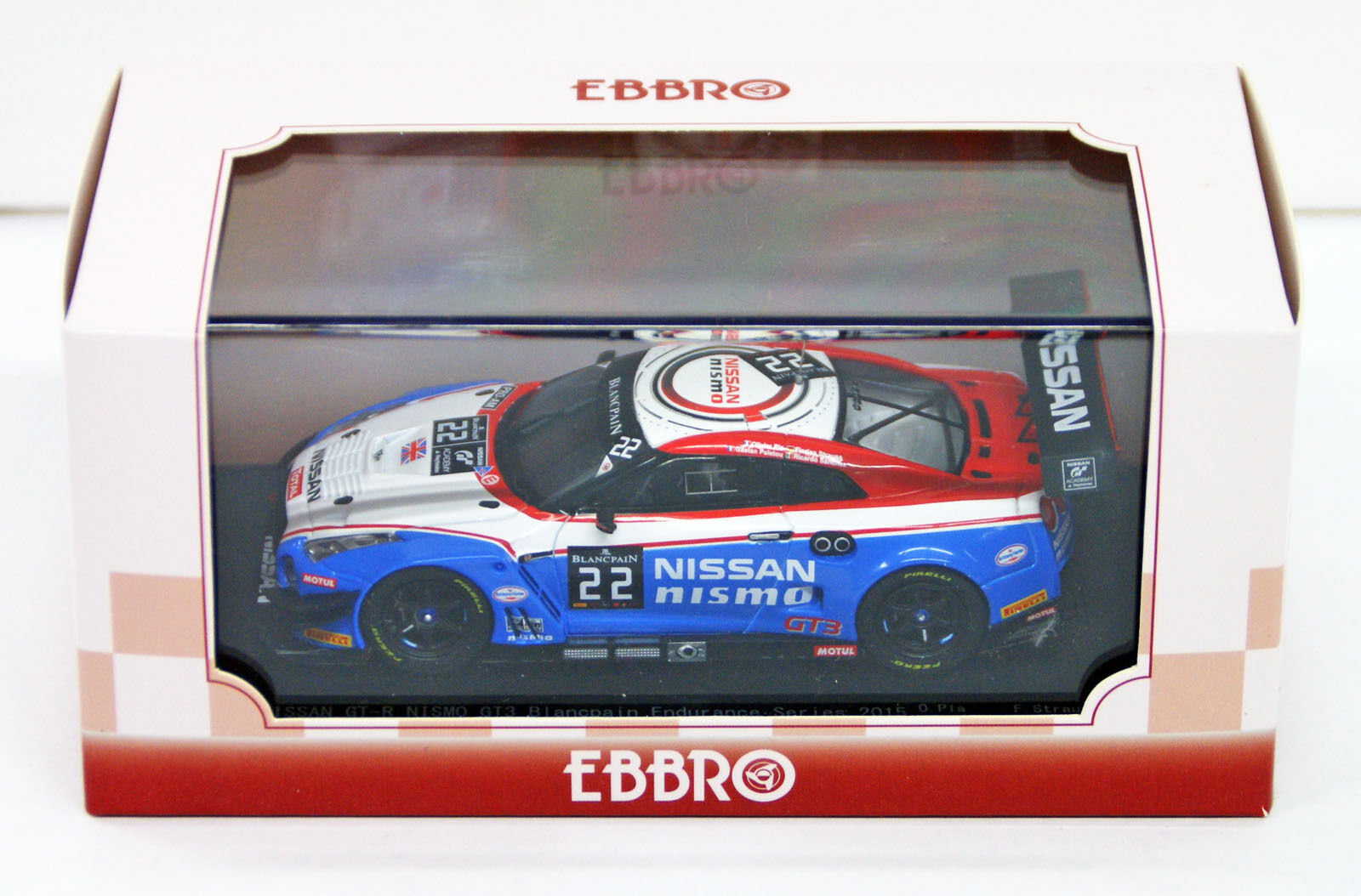 EBBRO 45482 NISSAN GT-R Nismo GT3 BLANCPAIN ENDURANCE 2015 NO.22 échelle 1 43