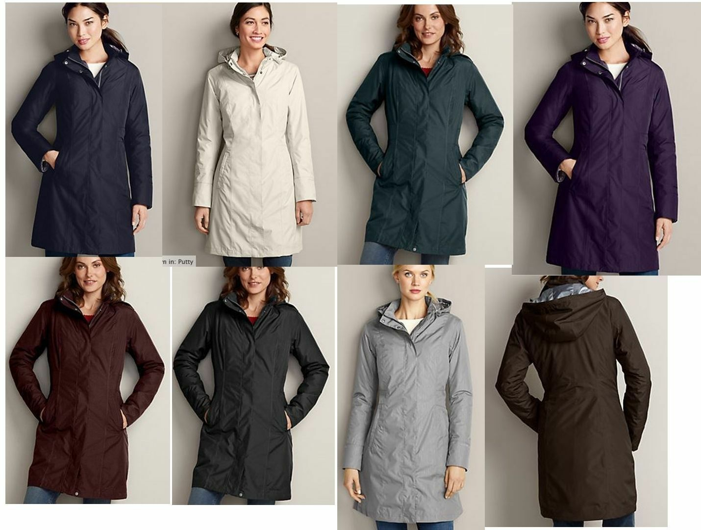 NWT Eddie Bauer Womens Weatheredge Girl On The Go Insulated Trench Coat 4 colors