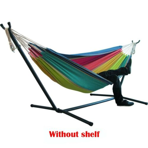Portable Camping Hammock with Stand for 2 person Outdoor Travel Patio Bed Swing