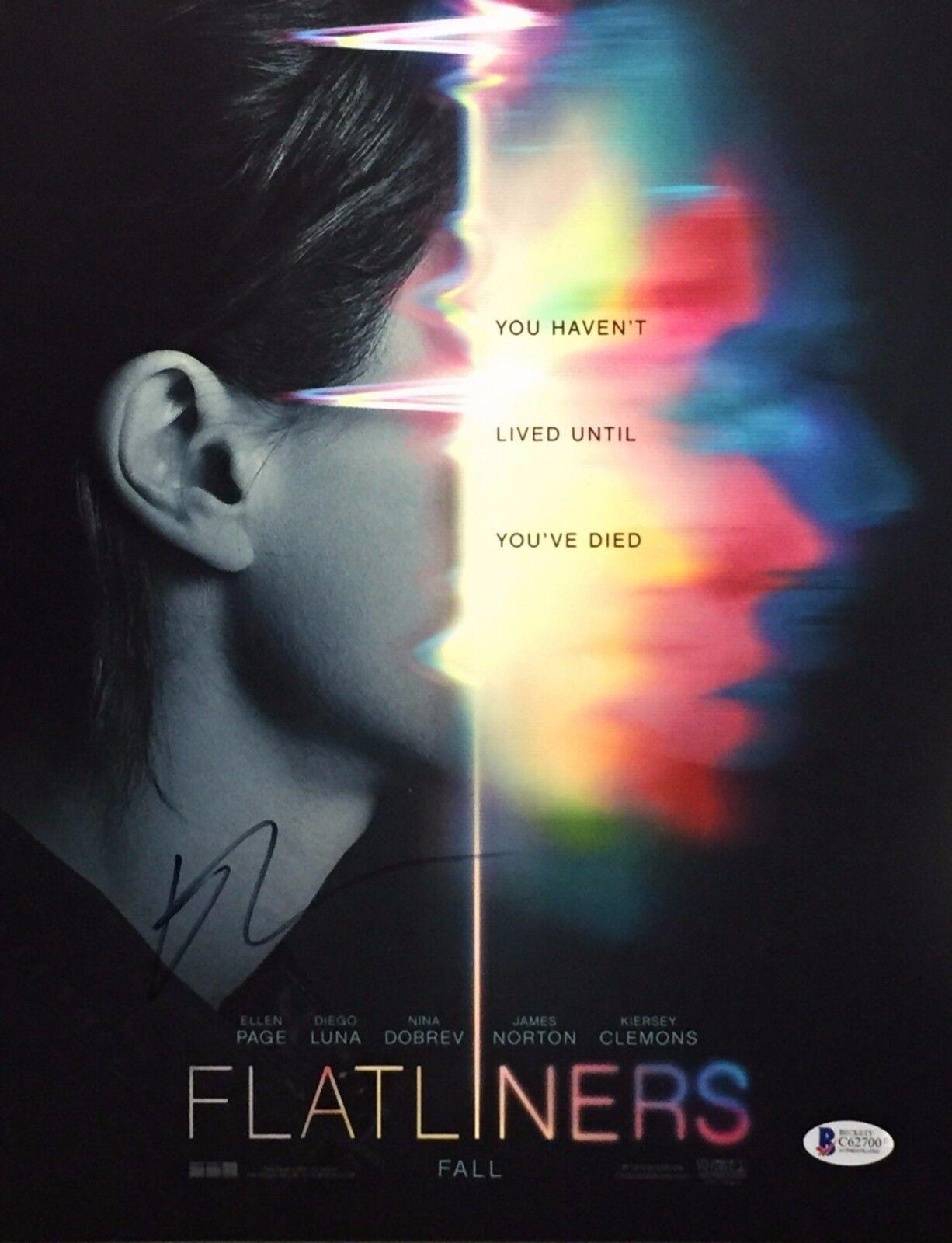Ellen Page Signed 'Flatliners' 11x14 Photo Beckett C62700