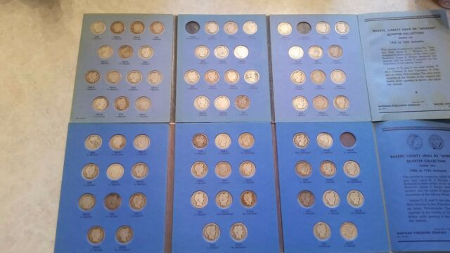 Barber Quarter Set, 1892-1916  Almost Complete, Very Nice, 71 Coins Collection,