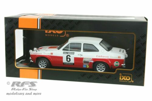 Ford Escort RS 1600 Mk I Embassy RAC Rallye 1971 Roger Clark  1:18 IXO NEU