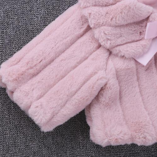 Girls Princess Faux Fur Bolero Shoulder Cape Bridesmaid Shawl Stole Shrug Jacket