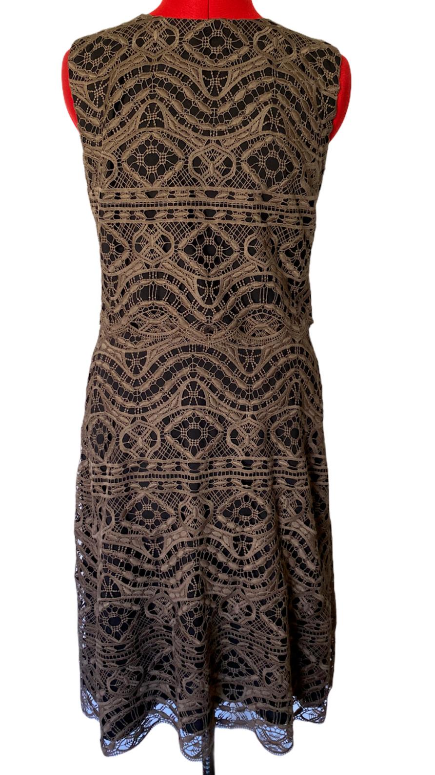 ANTHROPOLOGIE NWT BHLDN Embroidered Dress BEIGE /& BLUE FLORAL SHEATH Sz 6