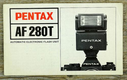 Asahi Pentax manual de instrucciones Flash af 280t manual en inglés x8037