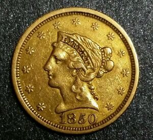1850 P Liberty Head Gold 2 50 Rare Early Mexican