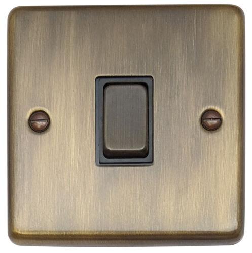 G/&H CAB301 Standard Plate Antique Bronze 1 Gang 1 or 2 Way Rocker Light Switch