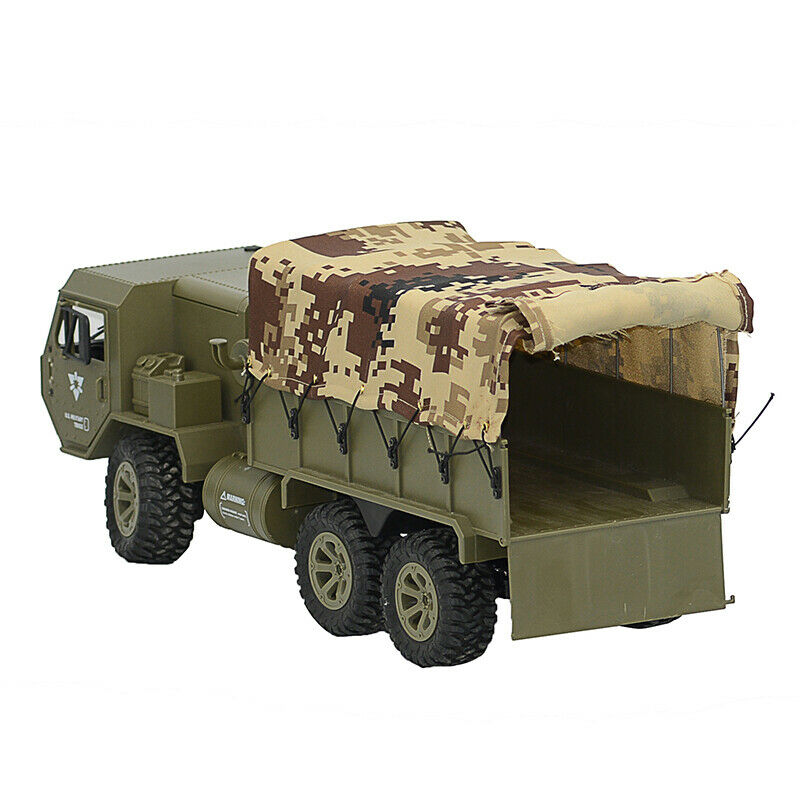 Army verde FY004 Military Transporter w  Canvas Hood Cover  2.4G 6WD 1 16 RC auto  molte concessioni