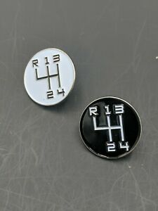 4-Speed-Shift-Knob-034-Ratrod-034-Hat-Pins-Your-Choice-White-Or-Black-J10