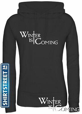 Shirtstreet24, SCHWERT WINTER IS COMING, Lady / Girlie Pullover Hoodie