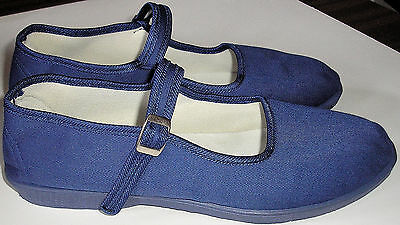 Adini -Mary Jane Canvas Yoga Shoes-Made In China-Blue
