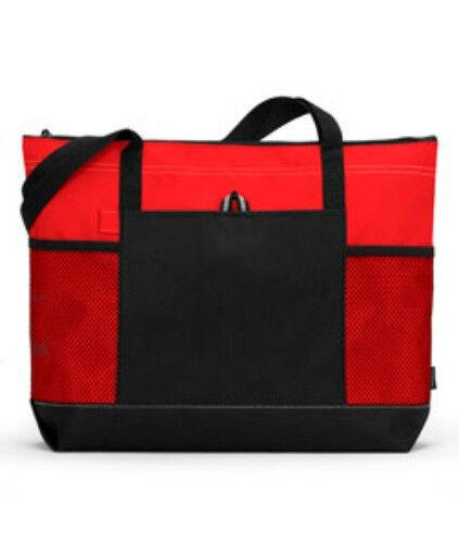 Zipper Tote Bag Book Shopper Teacher Nurse Purse Handbag