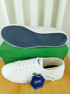 lacoste mens riberac leather trainers