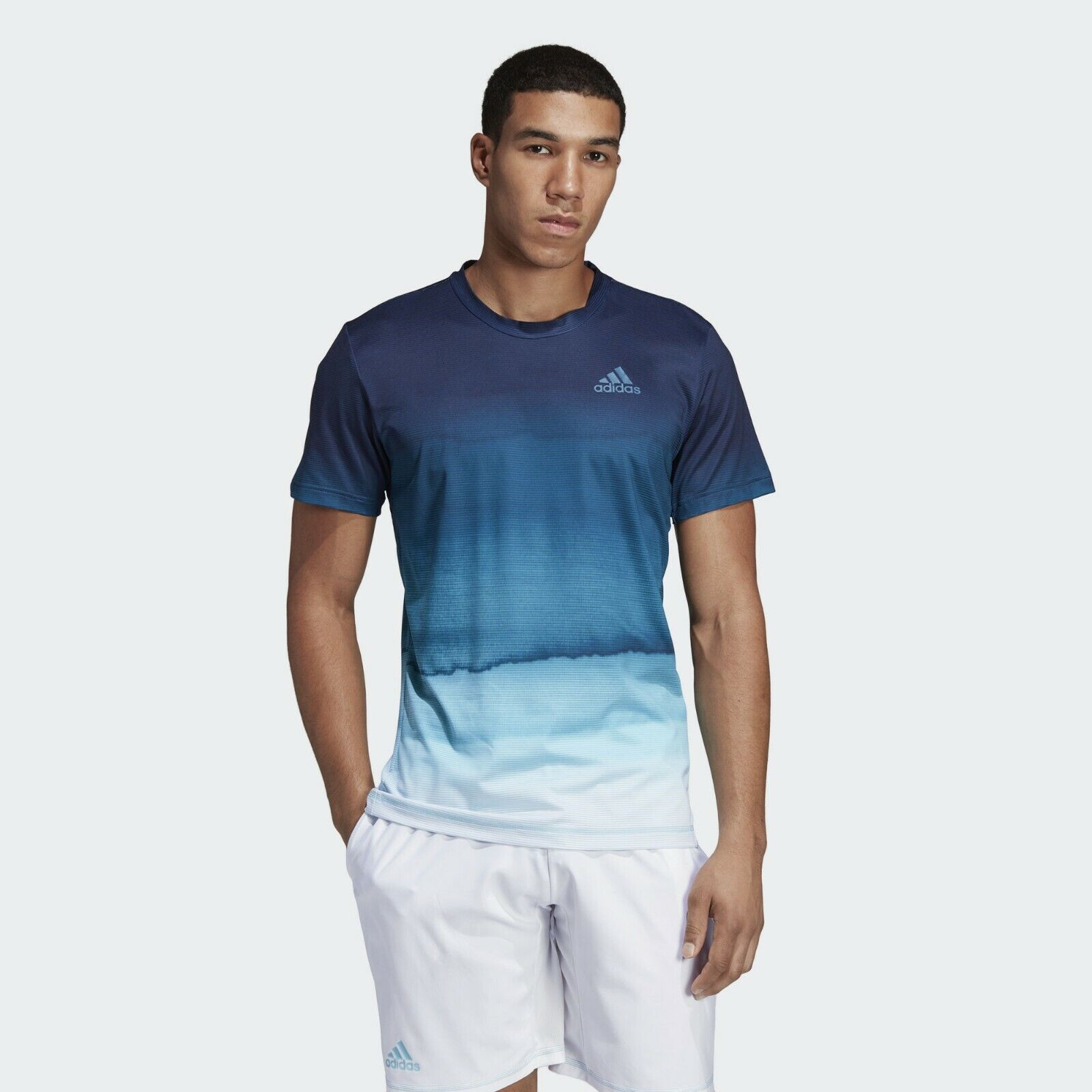 Adidas Parley Printed Tee Mens Weiß Ombre Active Wear T-Shirt DP0287