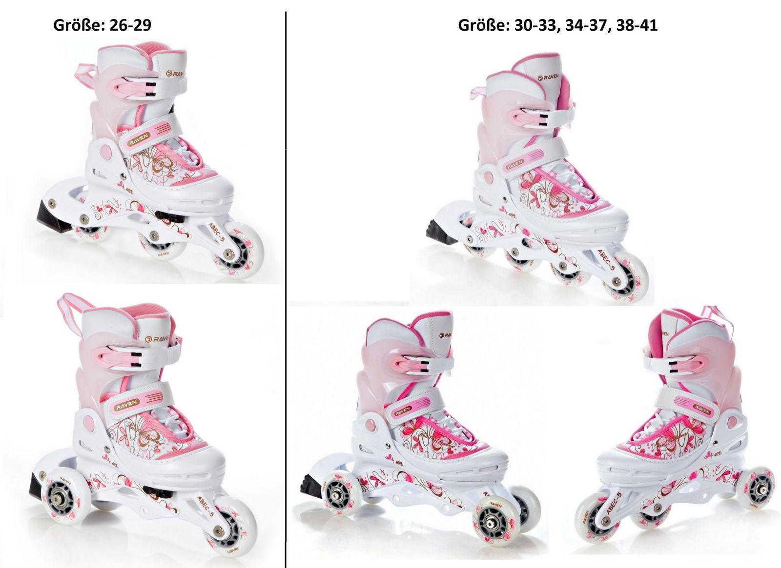 2in1 3in1 Inlineskates Inliner Triskates Rollschuhe Rollschuhe Rollschuhe + Helm + Schützer - Neu    König der Quantität  c9e37f