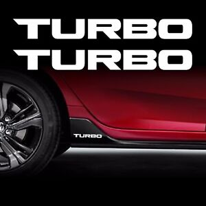 TURBO-STICKER-2X-decals-vinyl-1-5-Fits-Honda-Civic-Accord-civic-CR-V-WHITE