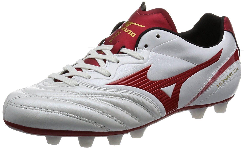 Mizuno Fútbol Fútbol Spike monarcida 2 Japón P1GA1721 blancooo Rojo US10 (28 Cm)