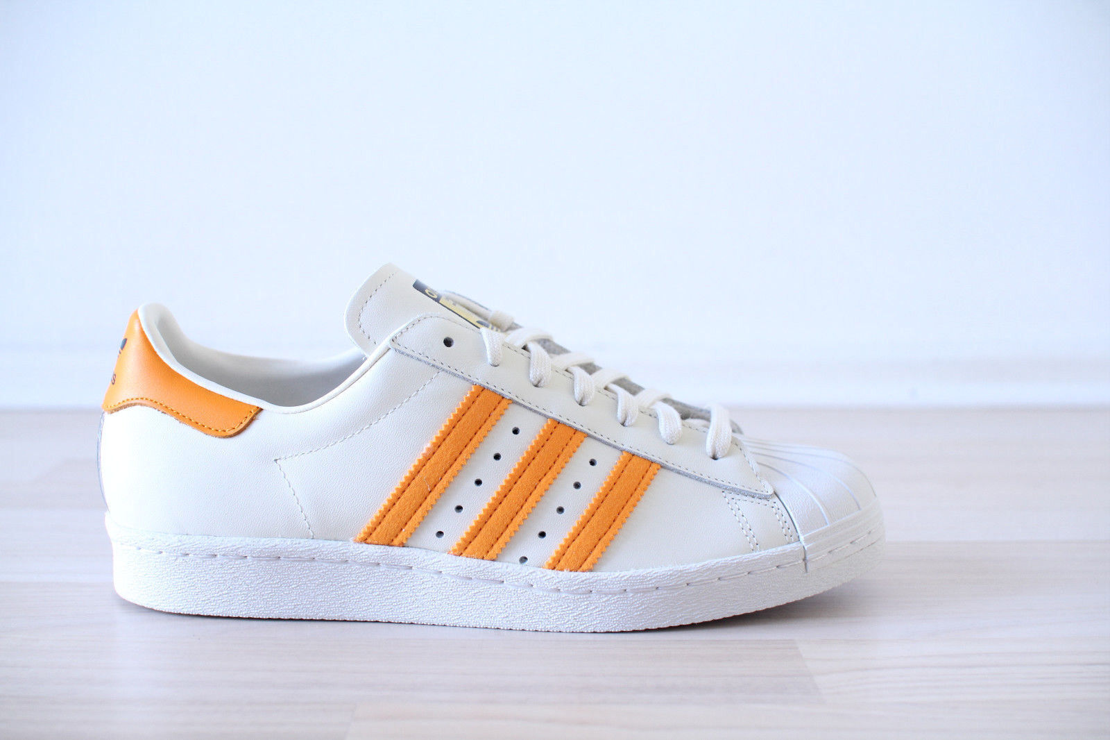 Adidas Superstar 80s beige naranja cuero talla 40,41,42,43,44,45,46 nuevo & OVP