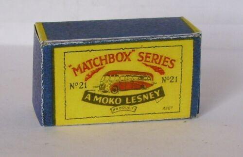 Repro box Matchbox 1:75 nº 21 long distance coach