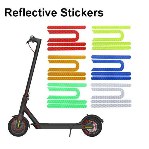 Details about  /4Pcs Scooter Reflective Stickers for Xiaomi Mijia M365 Pro Electric ScooterBT1L